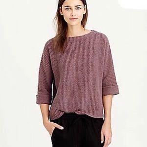 J. Crew Boxy Roll-Sleeve Pullover Sweater Medium